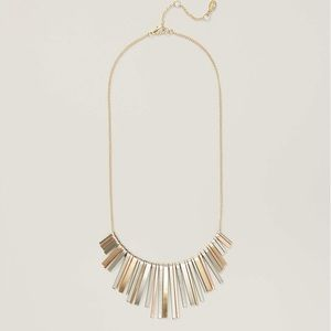LOFT Mixed Metallic Fringe Necklace